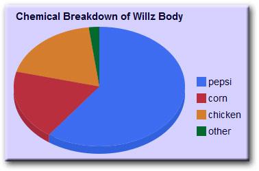 Chemical Breakdown of Willz Body